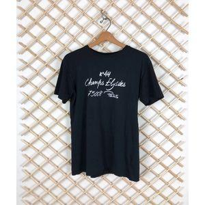 Zara Tops - Zara French Chic Graphic Logo Black T Shirt